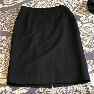 Rena Lange pencil skirt size 12, gray wool